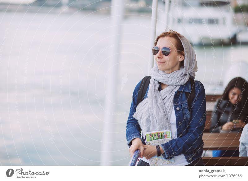 Tourismus Ferien & Urlaub & Reisen Jugendliche Sommer Junge Frau Erholung Ferne Leben Lifestyle Freiheit Zufriedenheit Freizeit & Hobby frei elegant Ausflug