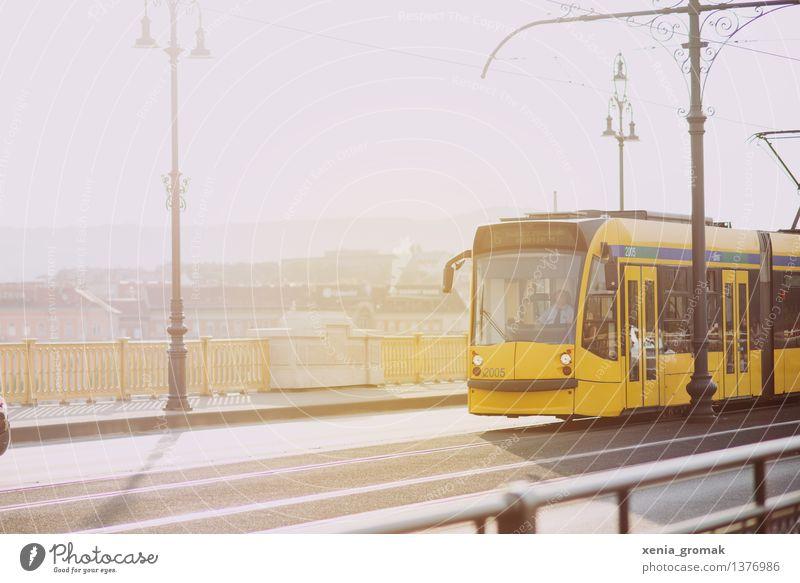 Tram Ferien & Urlaub & Reisen Sommer Stadt Straße Lifestyle Tourismus Ausflug Freizeit & Hobby Verkehr Abenteuer Brücke Eisenbahn Hauptstadt Städtereise