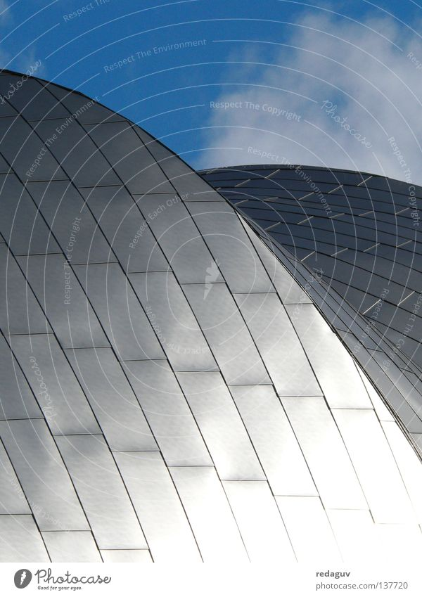 Jay Pritzker Pavilion Chicago Himmel Gebäude Metall Architektur modern rund Dach Stahl