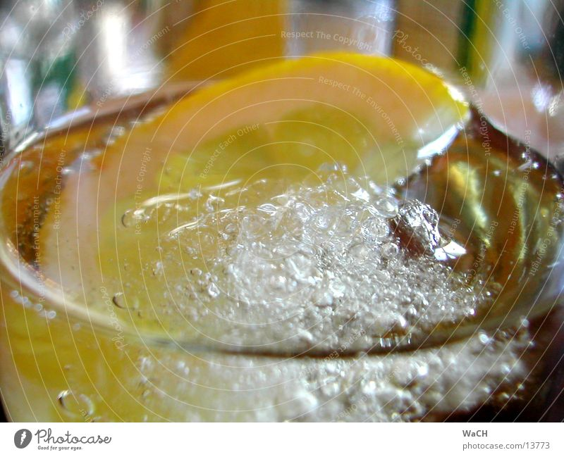 Coke Zitrone 3 Sommer kalt Eis Glas Getränk trinken Erfrischung Club Alkohol Alkoholisiert Fensterscheibe Zitrone Spalte Erfrischungsgetränk Trinkwasser Kohlendioxid