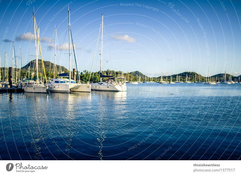 im sicheren Hafen! Ferien & Urlaub & Reisen Tourismus Ferne Sommer Sommerurlaub Sonne Wassersport Segeln Umwelt Landschaft Himmel Hügel Küste Bucht Fjord Meer