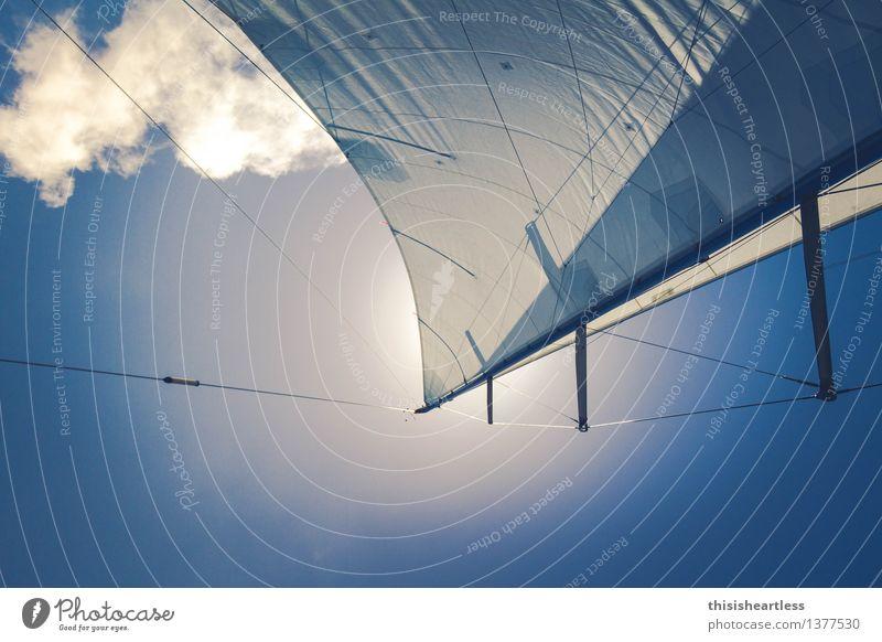 Setzt die Segel! Ferien & Urlaub & Reisen Sommer Sommerurlaub Sonne Segeln Himmel Wolken Schönes Wetter Wind Bootsfahrt Sportboot Jacht Segelboot Segelschiff