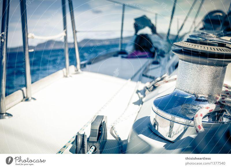 ... lass die anderen Machen! Himmel Ferien & Urlaub & Reisen blau Wasser weiß Meer Einsamkeit Landschaft ruhig Umwelt Küste liegen träumen Wellen Insel