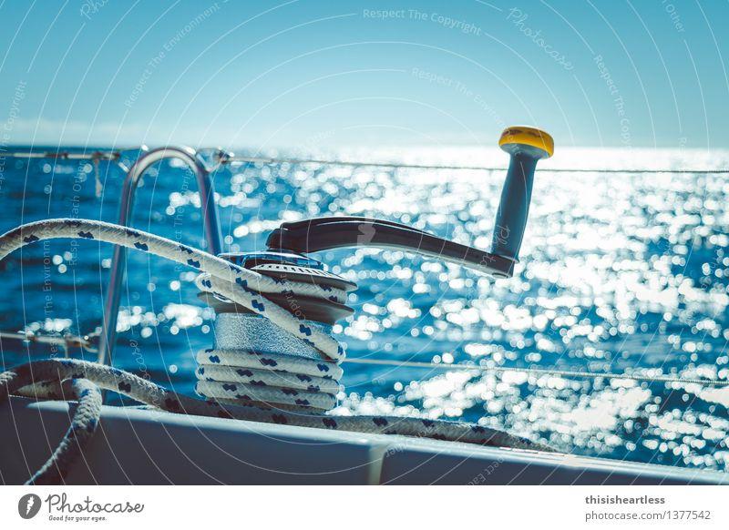 ...fest! Freude Freizeit & Hobby Ausflug Abenteuer Ferne Sommerurlaub Wassersport Segeln Urelemente Wind Wellen Meer Schifffahrt Bootsfahrt Passagierschiff