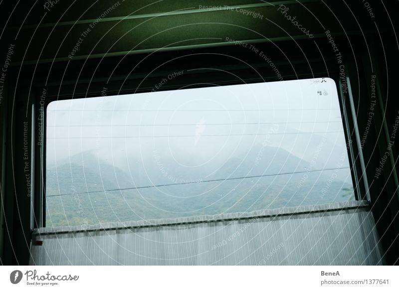 Fenster zur Welt Umwelt Natur Landschaft Tier Wolken Gewitterwolken Herbst schlechtes Wetter Nebel Wald Urwald Hügel Alpen Berge u. Gebirge Verkehrsmittel