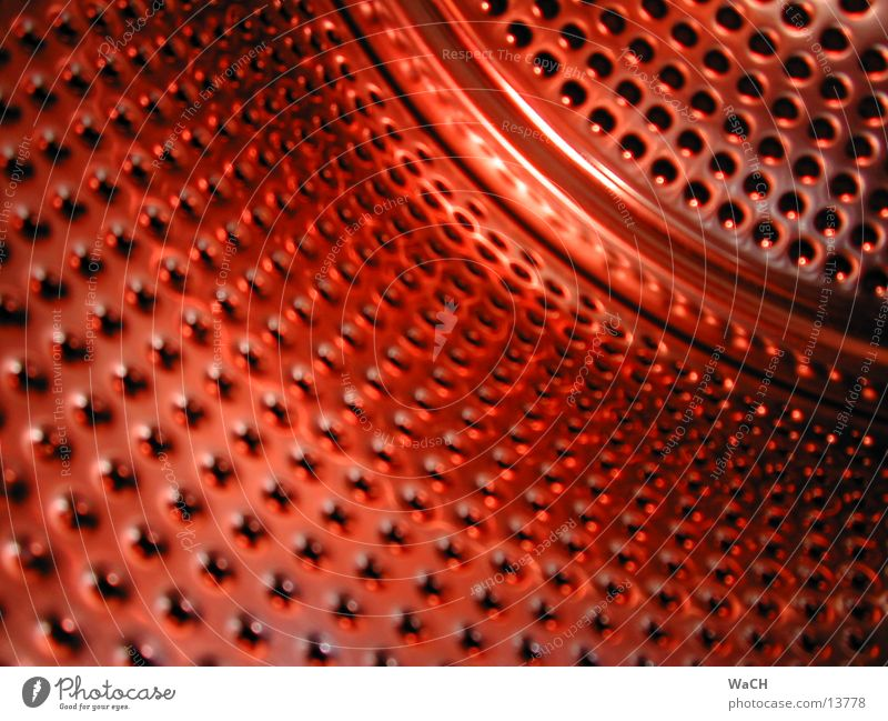 style red Stil rot Lochblech Waschmaschine Wäschetrockner Stahl Chrom abstrakt Trommel trocknen trocken Aluminium Rostfreier Stahl Wäschetrommel Fototechnik
