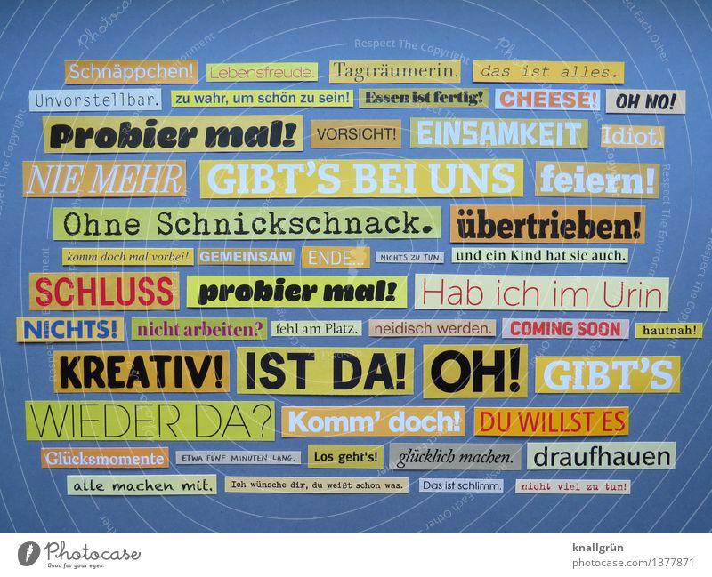 SCHNÄPPCHEN! Schriftzeichen Schilder & Markierungen Kommunizieren eckig einzigartig gelb grau schwarz weiß Gefühle Idee Inspiration Kreativität Kunst Text