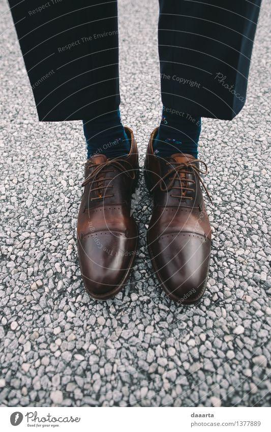Fahrradsocken Freude Leben Gefühle Stil Lifestyle braun Stimmung Fuß Design maskulin Freizeit & Hobby elegant authentisch Fröhlichkeit Schuhe einfach