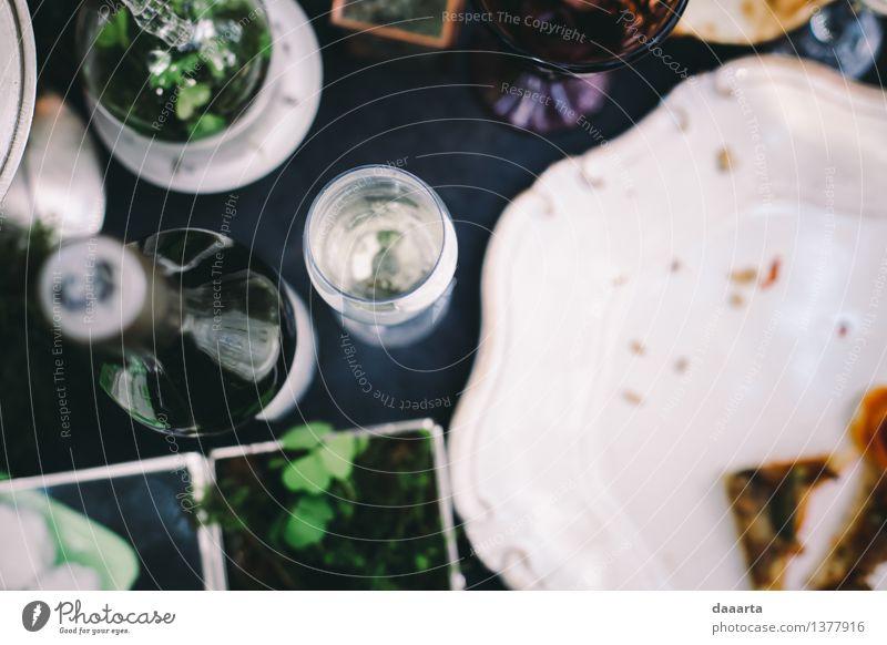 Tabelleneinstellung 6 Pflanze Blatt Freude Wärme Leben Blüte Gefühle Stil Lifestyle Feste & Feiern Stimmung Design wild Freizeit & Hobby elegant Glas