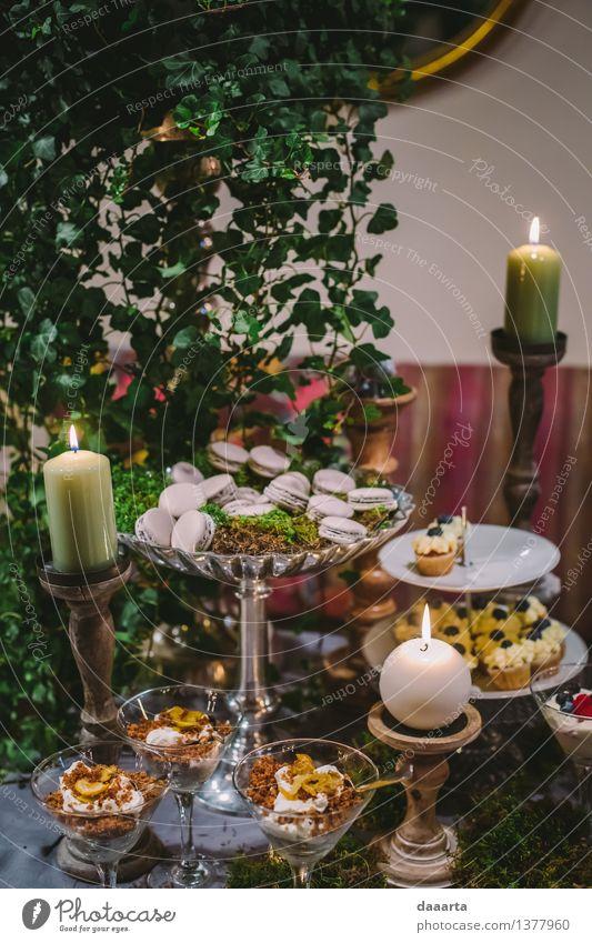 Nachtisch im Wald 2 Lebensmittel Kuchen Dessert Süßwaren Schokolade Beeren Lifestyle elegant Stil Design Freude harmonisch Freizeit & Hobby Abenteuer Freiheit