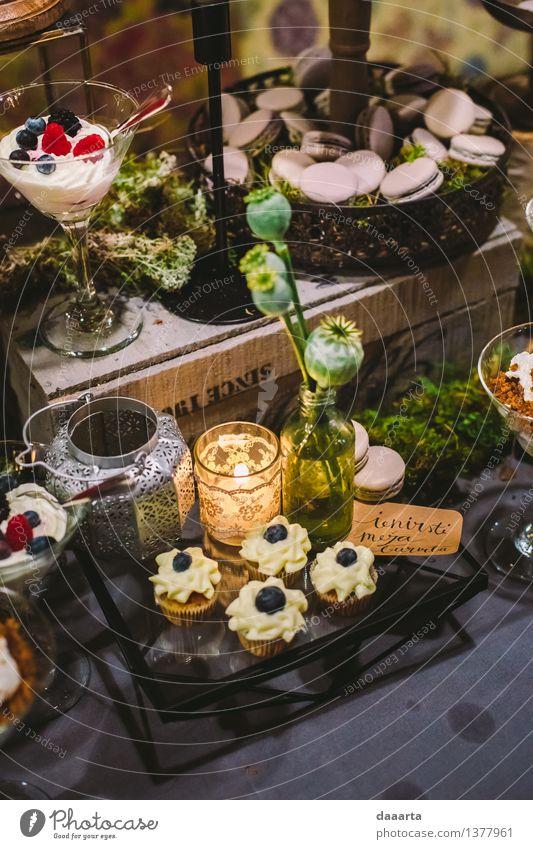 Dessert im Wald Lebensmittel Kuchen Süßwaren Beeren Lifestyle elegant Stil Freude harmonisch Freizeit & Hobby Abenteuer Freiheit Traumhaus Innenarchitektur