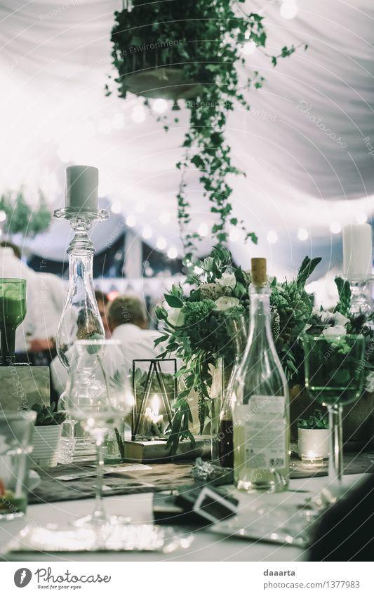 Tabelleneinstellung 3 Getränk Wein Sekt Prosecco Champagner Flasche Glas Lifestyle elegant Stil Design Freude Freizeit & Hobby Ausflug Abenteuer Traumhaus