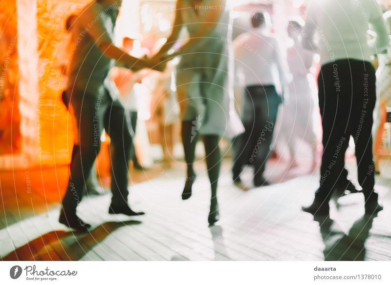 Tanz die ganze Nacht Freude Leben Gefühle Stil Spielen Feste & Feiern Lifestyle Stimmung Party Freundschaft springen glänzend wild Freizeit & Hobby elegant