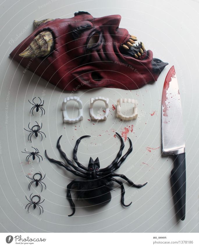 Be prepared! rot dunkel schwarz Tod Feste & Feiern außergewöhnlich braun Party Angst dreckig Kreativität Spitze bedrohlich Maske Karneval gruselig