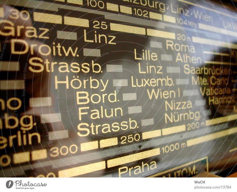 radio retro Vergangenheit Zeit UKW Sender senden Antenne Radio Entertainment Kommunizieren revival führer past time ago Detailaufnahme Transponder Transponter