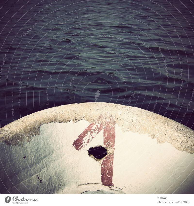Wohin geht die Reise? Ruderboot Wasserfahrzeug Schiffsbug Heck Vorderseite Meer See Teich Angeln Fischerboot Angler Segelboot Segeln Seemann Holz Schifffahrt