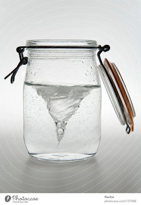 Sturm im Wasser Glas Wasser Meer Wellen Glas nass Sturm Leidenschaft Flasche tief gefangen Wasserwirbel Behälter u. Gefäße konservieren tosend