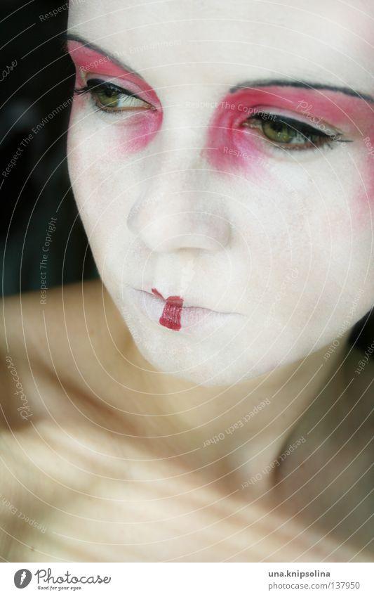 .asiatique Frau Jugendliche weiß Sommer Freude Gesicht Erwachsene Haut Junge Frau Maske Karneval Asien China Schminke Karnevalskostüm unschuldig