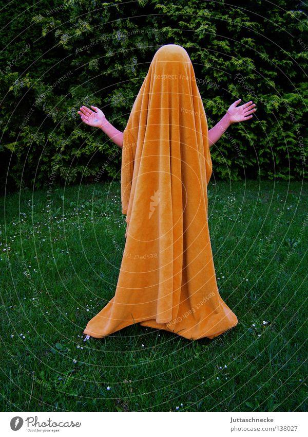 Jesus undercover Hand grün Zufriedenheit orange Kommunizieren Frieden geheimnisvoll verstecken Rede Geister u. Gespenster Decke Jesus Christus Versteck verdeckt