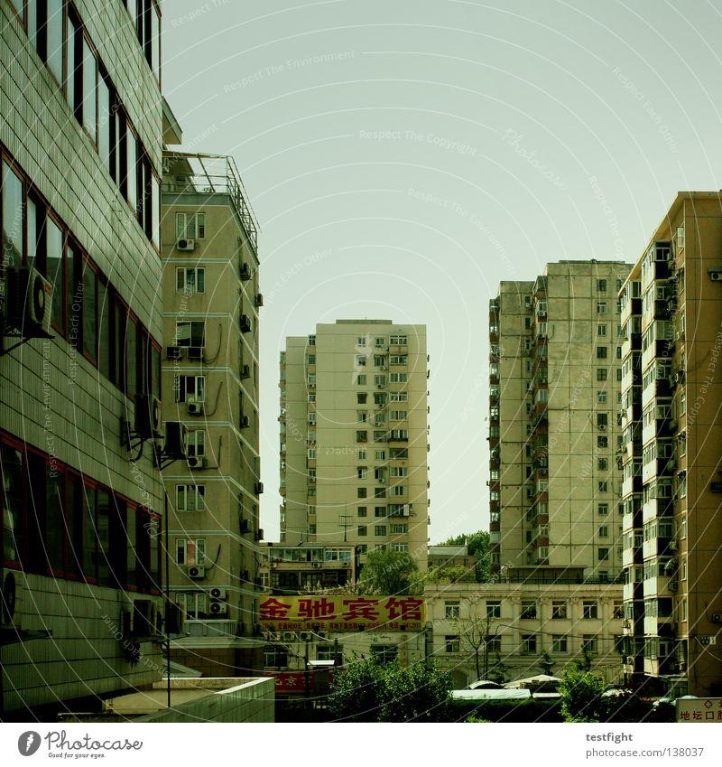 second life Himmel Stadt Sommer Architektur Arbeit & Erwerbstätigkeit Armut authentisch Häusliches Leben China Skyline Hinterhof wirklich Ehrlichkeit Peking Wohngebiet