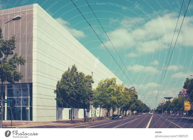 Karl-Liebknecht-Straße 141 Stadt Architektur Gebäude Fassade Design Arbeit & Erwerbstätigkeit Stadtleben modern Zukunft lernen Studium Bauwerk Bildung