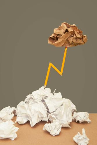 Bitzartig! Wolken lustig Lifestyle Stil außergewöhnlich Business Schule grau Design Kommunizieren Kreativität Beginn Idee einfach Studium Papier