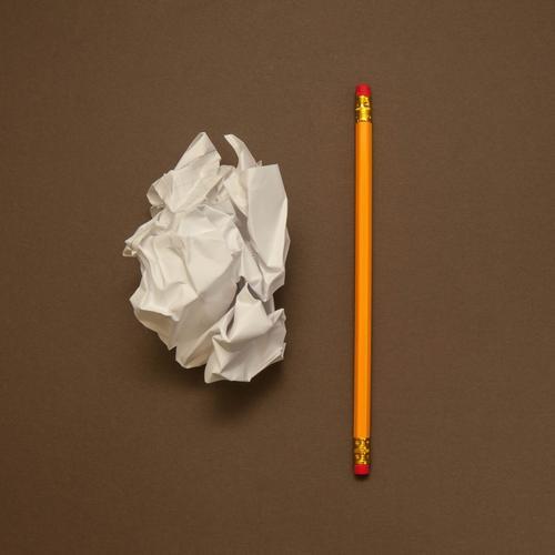 Der Wille ist ja da ... lustig Stil Schule braun Business Arbeit & Erwerbstätigkeit Design Büro paarweise Kreativität Beginn Studium einfach Idee