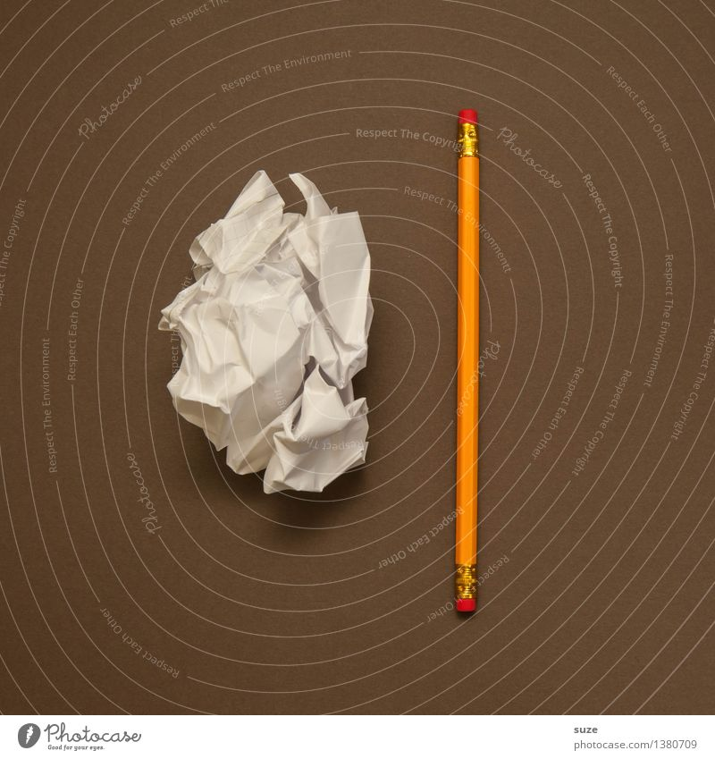 Der Wille ist ja da ... lustig Stil Schule braun Business Arbeit & Erwerbstätigkeit Design Büro paarweise Kreativität Beginn Studium einfach Idee Grafik u. Illustration schreiben