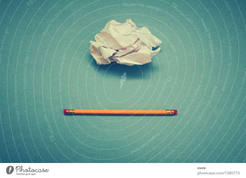 Ja-nein-vielleicht blau Wolken lustig Stil klein Schule Business Arbeit & Erwerbstätigkeit Design Büro Beginn Kreativität Kommunizieren Studium einfach Idee