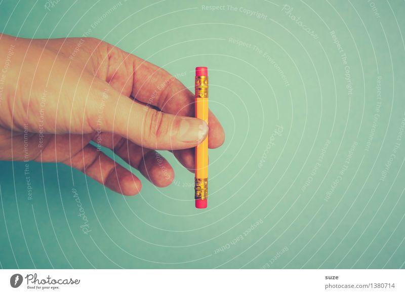 ABER hat heut Pause blau Hand lustig Stil klein Schule Business Arbeit & Erwerbstätigkeit Design Büro paarweise Beginn Kreativität Studium Finger Idee