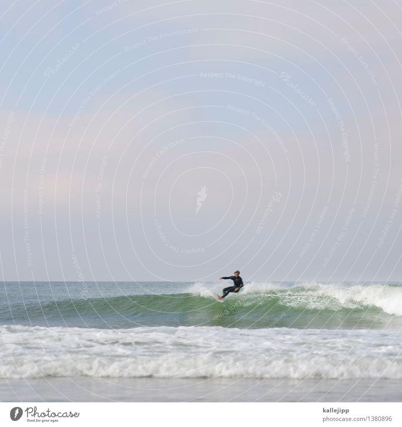 wave after wave Mensch Himmel Natur Jugendliche Mann Wasser Strand 18-30 Jahre Erwachsene Umwelt Bewegung Küste Stil Sport Lifestyle Horizont