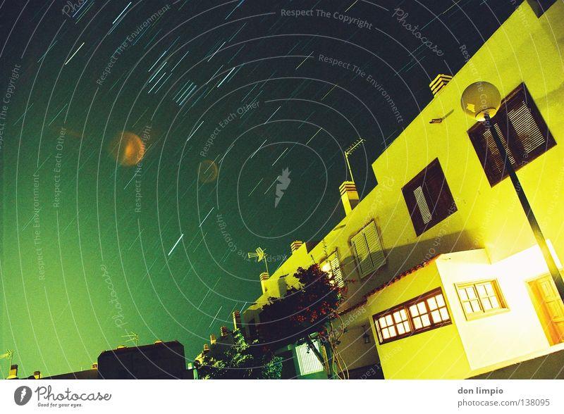 buenos noches Himmel Stern Stern (Symbol) Platz Dorf analog Terrasse Sternenhimmel Fuerteventura Reihenhaus
