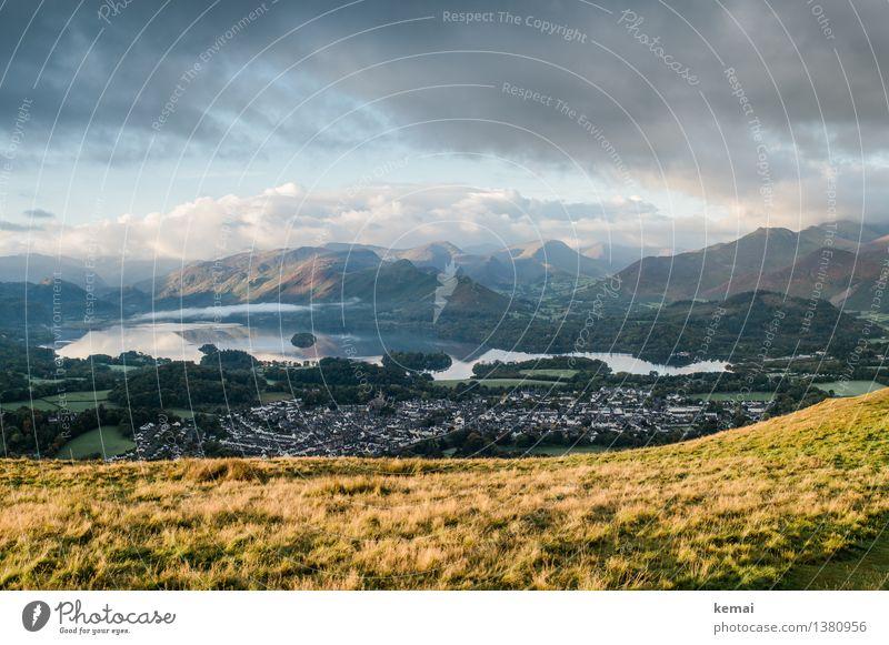 Welcome to Keswick, England Himmel Natur Ferien & Urlaub & Reisen schön Landschaft ruhig Wolken Ferne Berge u. Gebirge Umwelt Herbst Wiese Freiheit See Stimmung Felsen
