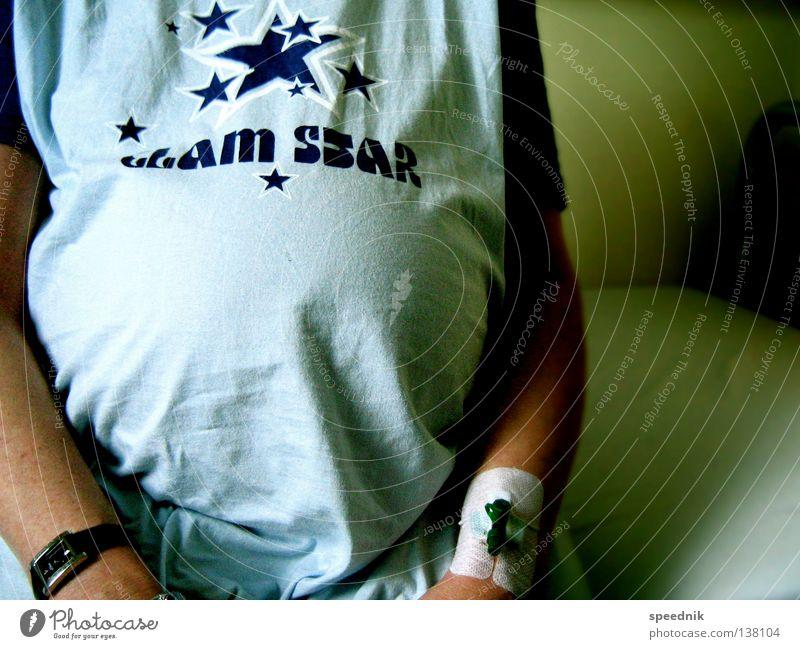 Glam Star Frau blau grün Freude Familie & Verwandtschaft Feste & Feiern Gesundheit Arme Geburtstag Uhr Stern (Symbol) Mutter Bett rund T-Shirt Krankheit