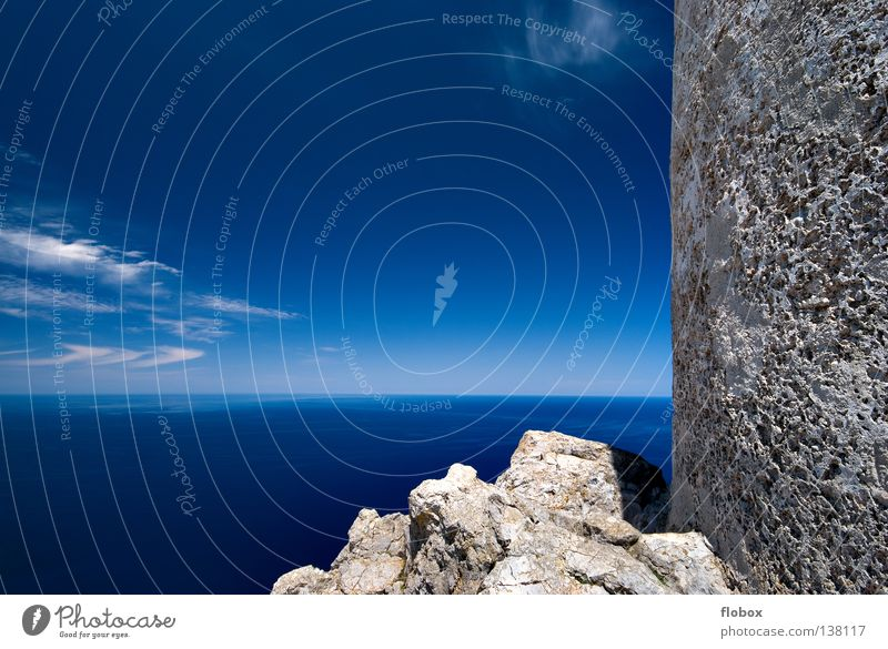 AUSSICHT! Natur Wasser Himmel Meer blau Strand Wolken Einsamkeit Ferne Farbe Erholung Berge u. Gebirge Stein See Wärme Landschaft