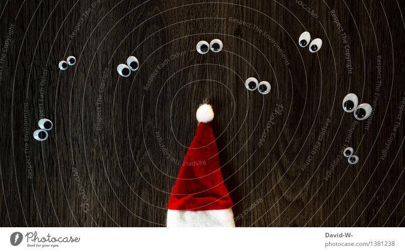 in einem Monat ist es wieder soweit Mensch Kind Weihnachten & Advent schön Mädchen Winter Auge Leben Junge Holz Glück Feste & Feiern träumen Kindheit warten beobachten