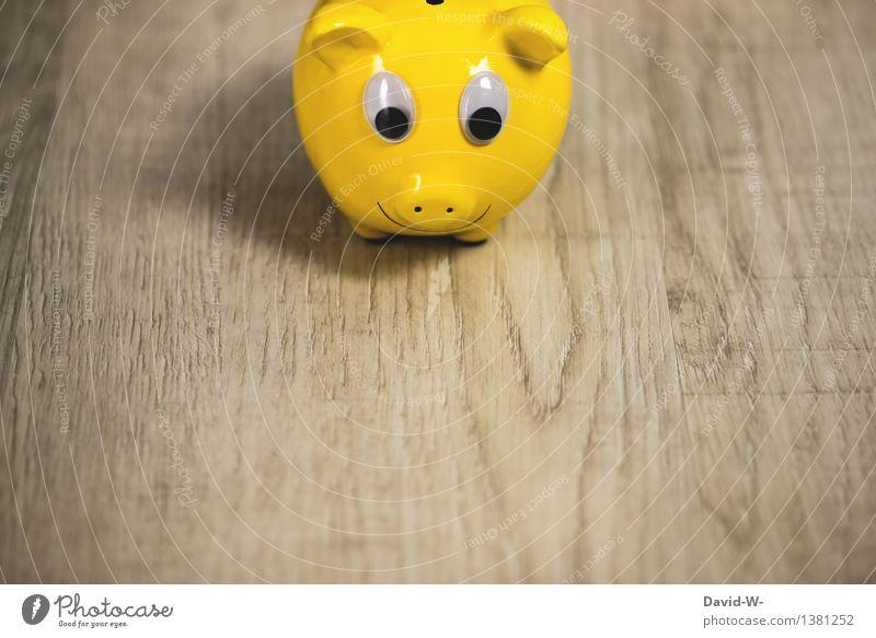 auch etwas für Vegetarier kaufen Reichtum elegant Stil Freude Glück Geld sparen Traumhaus Hausbau Hochzeit Geburtstag Tier reich Spardose gelb Auge groß