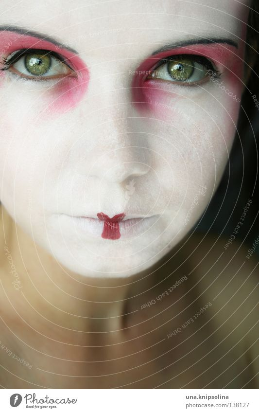 ...asiatique Frau Jugendliche weiß Sommer Freude Gesicht Erwachsene Junge Frau Maske Karneval Asien China Schminke Karnevalskostüm unschuldig Lippenstift