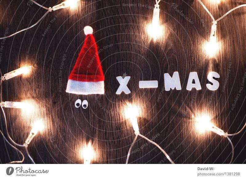X-MAS Lifestyle Freude Glück Zufriedenheit Wohnung Feste & Feiern Weihnachten & Advent Mensch Auge Kunst Gefühle Fröhlichkeit Liebe Romantik Nikolausmütze