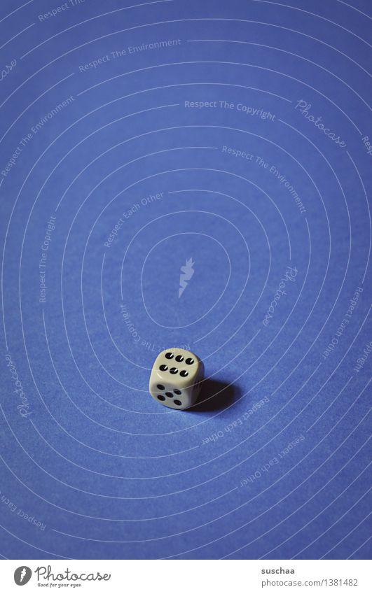 6 blau Spielen Punkt Würfel Spielsucht Würfelspiel
