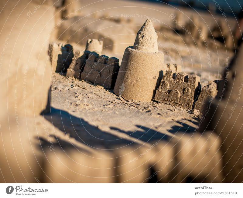 Zimmer mit Meerblick Bauwerk bauen braun grau orange Schönes Wetter Strand Sandurg Wüste Ferien & Urlaub & Reisen Kindheit Sommer Sommertag Sommerurlaub