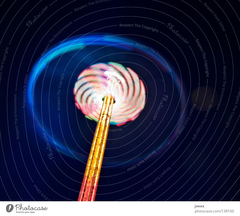 Lollipop Freude Außenaufnahme Ausstellungsplatz mehrfarbig drehen Drehung Farbenspiel Ferien & Urlaub & Reisen Geschwindigkeit Freizeit & Hobby Vergnügungspark