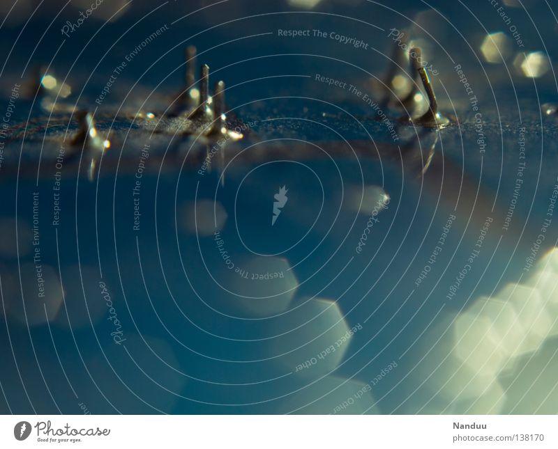 unendliche Weiten blau Hintergrundbild glänzend Industrie Kommunizieren Technik & Technologie Industriefotografie nah Kontakt Technikfotografie Tiefenschärfe
