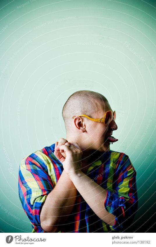 colored =) Körperhaltung Hand Gelenk Finger Mann Wand Hintergrundbild T-Shirt Brille Silhouette Licht Raum Haarschnitt Realismus Porträt Bekleidung Farbe
