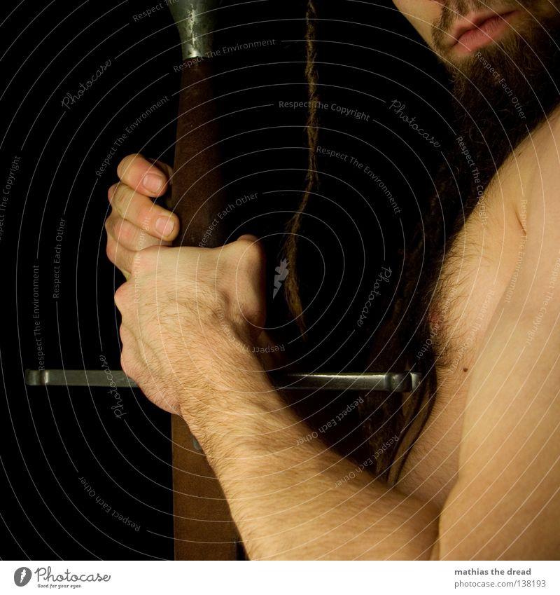 ...RITTERSCHLAG! Unterarm Oberarm Skelett Gelenk Biologie Mechanik Silhouette dunkel Schatten schwarz Haare & Frisuren Stil Kultur Reggae Schwert Waffe Altertum