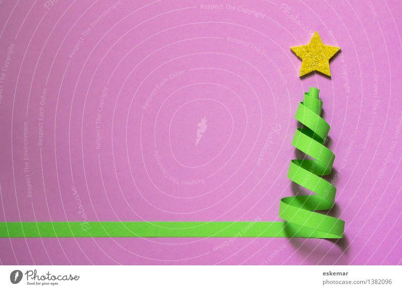 Weihnachten! Weihnachten & Advent grün rosa gold ästhetisch einfach Papier Stern (Symbol) violett Weihnachtsbaum Vorfreude Basteln Schreibwaren Ornament Weihnachtsstern