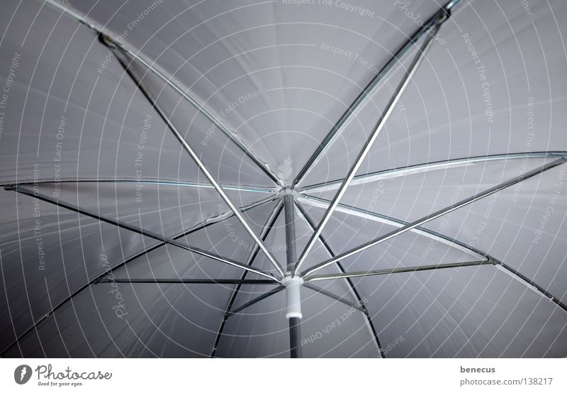 beschirmt blitzen Regenschirm weiß Beleuchtung Dach rund streben Metallstange Stab Bekleidung Freizeit & Hobby Reflexschirm Schutz Baugerüst Strukturen & Formen