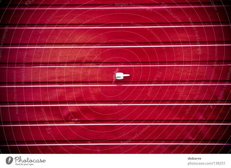rote Garage Blech Strukturen & Formen Oberfläche Farbe red door Tor texture surface