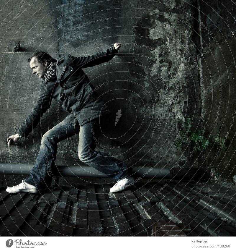 spiders Mann Silhouette Dieb Krimineller Rampe Laderampe Fußgänger Schacht Tunnel Untergrund Ausbruch Flucht umfallen Fenster Parkhaus Geometrie Gegenlicht