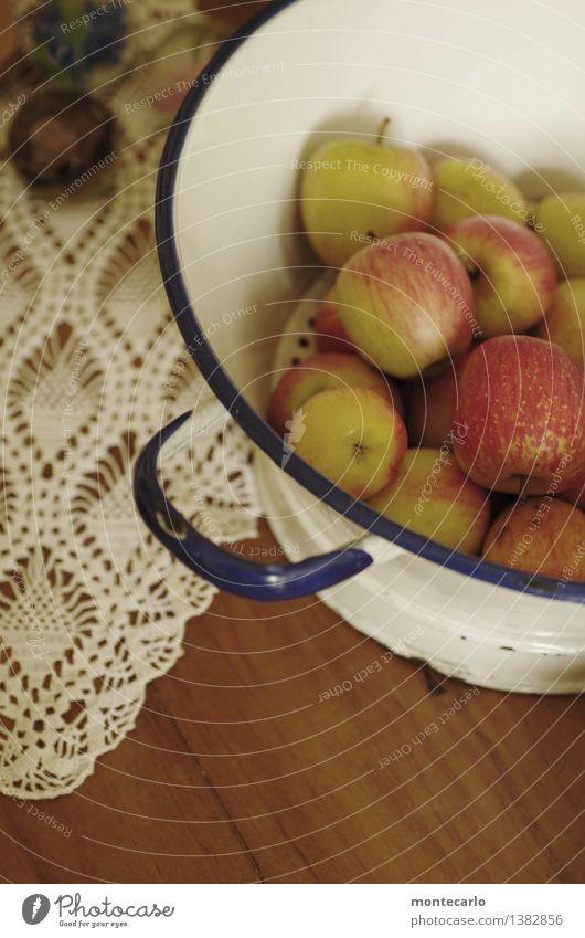 bitte zugreifen... Lebensmittel Frucht Apfel Ernährung Bioprodukte Sieb Schalen & Schüsseln Dekoration & Verzierung Sammlerstück Emaille Tisch Tischwäsche Holz